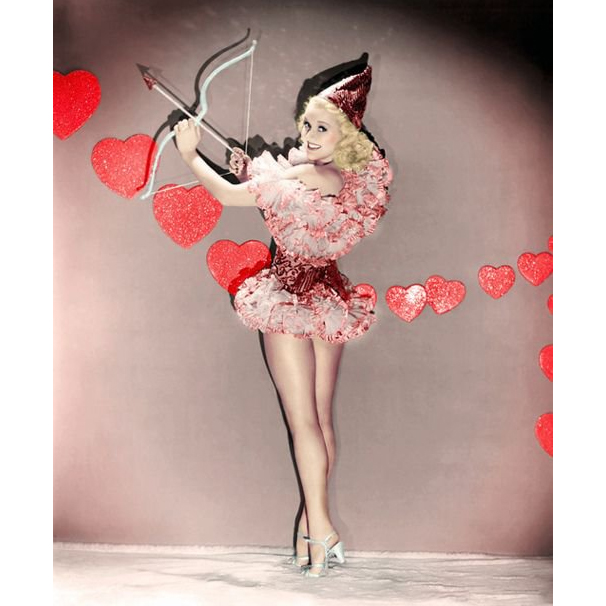 Betty Grable dressed as Cupid