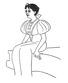 Caricature of Helen Morgan