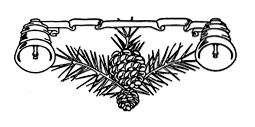 A tiny icon of a pinecone