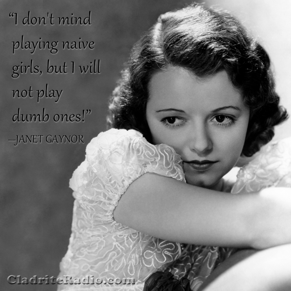 Janet Gaynor quote
