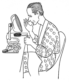 Caricature of Leslie Howard