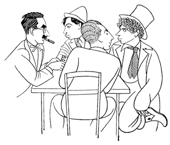 Caricature of the Marx Brothers