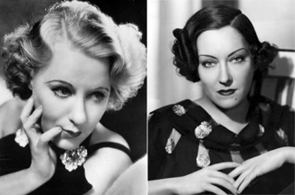 Grace Moore and Gloria Swanson