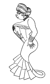 Caricature of Mae West