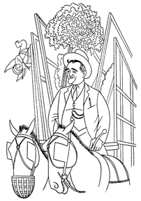 Caricature of Patrick Cain