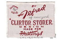 A label from a Clinton Stoner garment