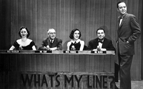 Dorothy Killgallen, Bennett Cerf, Arlene Francis, Hal Block and John Charles Daly of What's My Line?